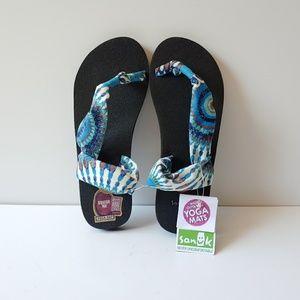 NWT Sanuk Yoga Sling It On Sandals Size 7 IPNW